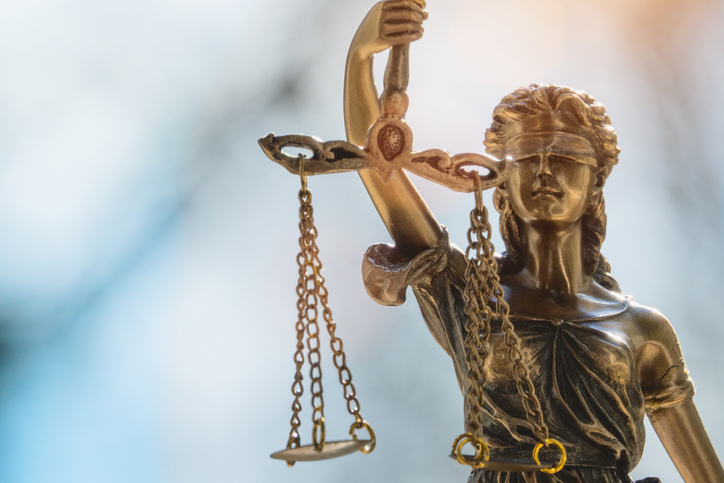 Lady Justice or Justicia in front of blurred background - The Law Offices of Jane M. Randall, P.A. - Family Law, Family Mediation, Real Estate Attorney | in York County, Chester County, Lancaster County